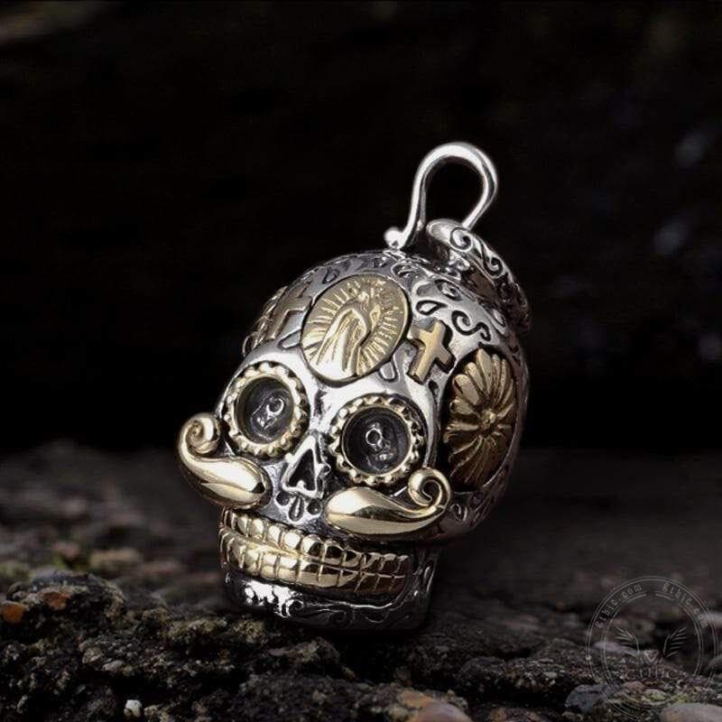 Hat Magic Sterling Silver Sugar Skull Pendant | Gthic.com