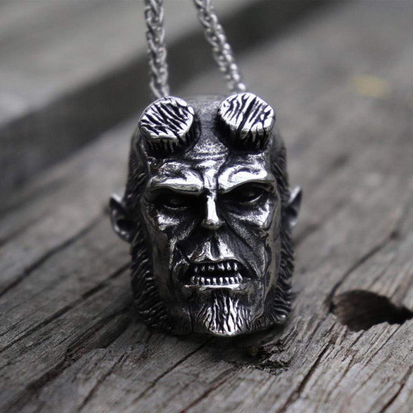 Hellboy Devil 316L Stainless Steel Pendant | Gthic.com
