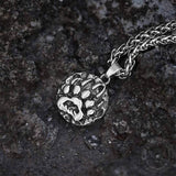 Bear Claw Amulet Stainless Steel Viking Pendant