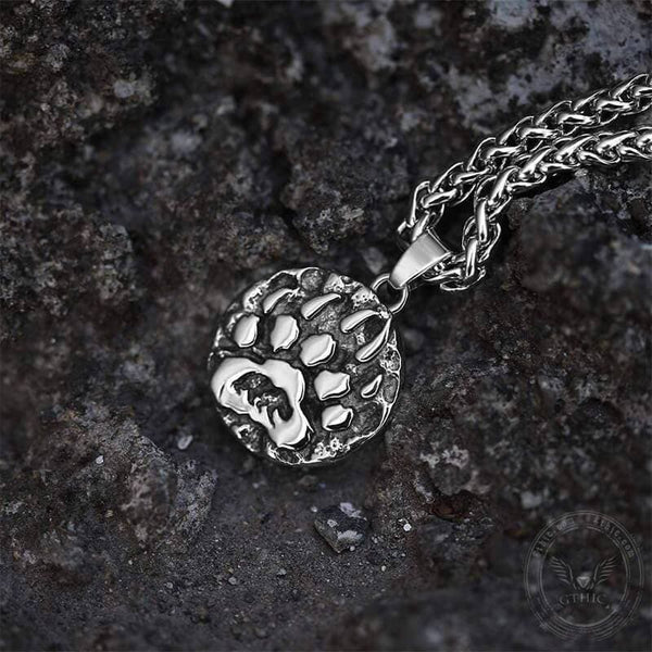 Bear Claw Amulet Stainless Steel Viking Necklace