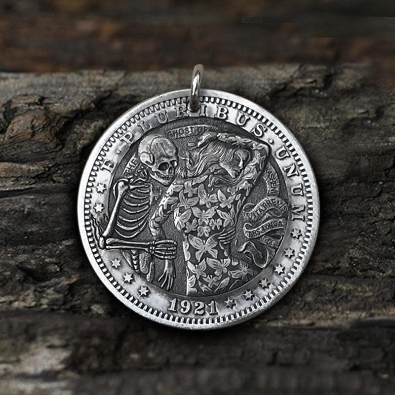 Kashenf Ghost Beauty Papilio Hobo Nickel Pendant