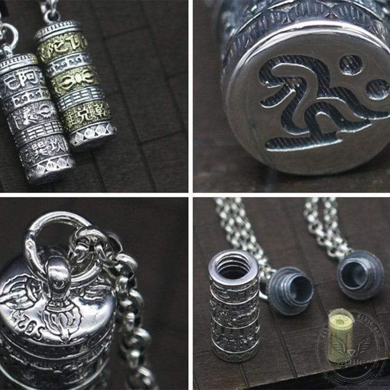 Small Bottle Sutra 925 Silver Pendant