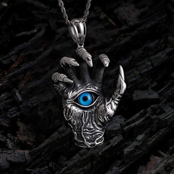 Dragon Claw Blue Evil Eye Pendant