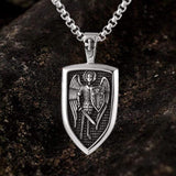 Archangel Saint Michael Shield Stainless Steel Pendant