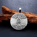 Vikings Amulet Tree of Life Round Stainless Steel  Pendant