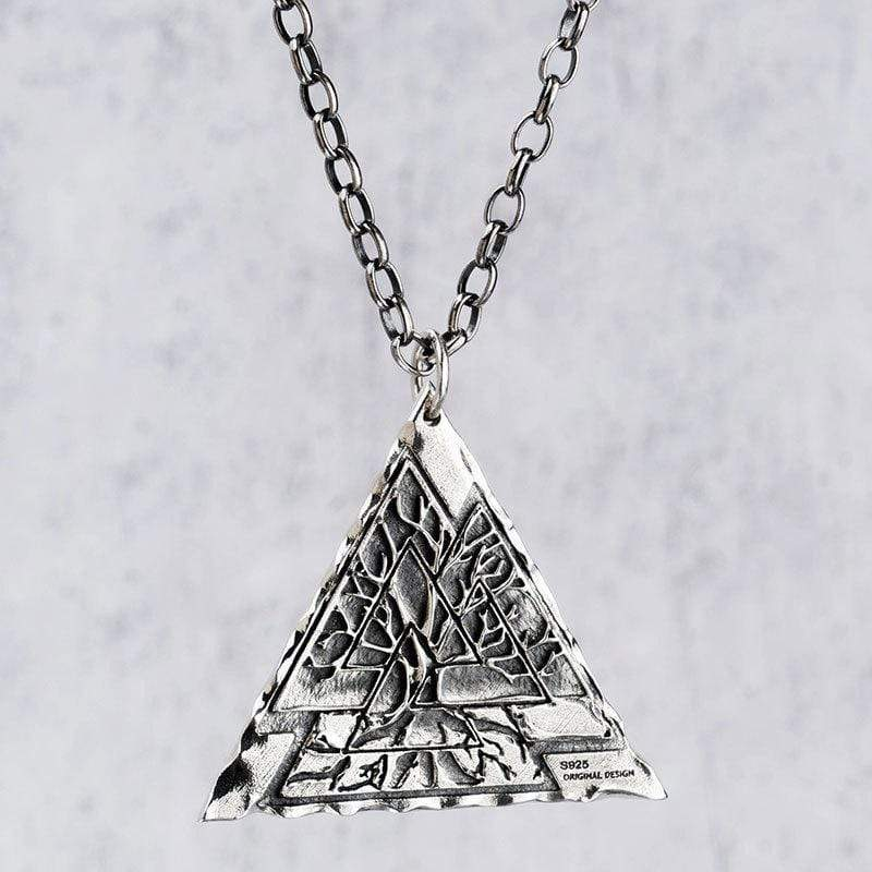 Valknut Life of Tree 925 Silver Viking Pendant