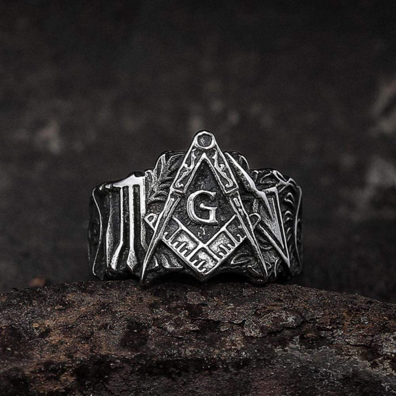Knights Templar Stainless Steel Masonic Ring | Gthic.com