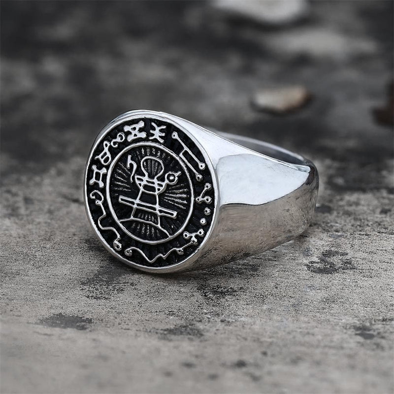 Seal of Solomon Stainless Steel Ring