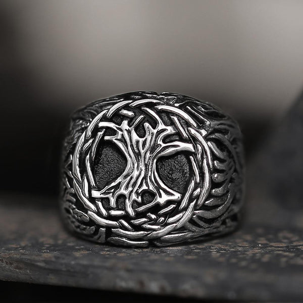 Yggdrasil 316L Stainless Steel Viking Ring