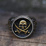 Retro Pirate Stainless Steel Skull Ring