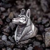 Anubis Sterling Silver Egyptian Mythology Ring