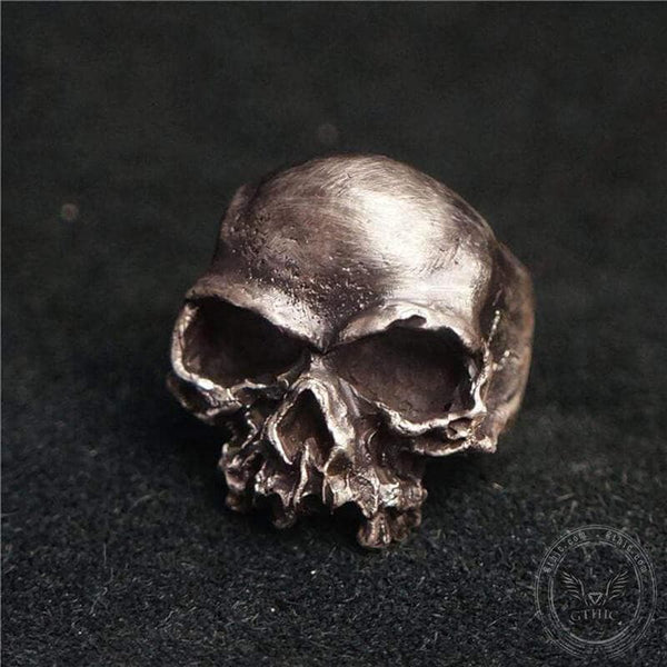 Dark Retro Sterling Silver Skull Ring