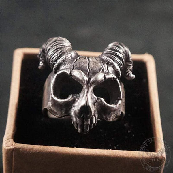 Pan's Labyrinth Sterling Silver Skull Ring