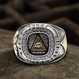 Eye of Providence Sterling Silver Masonic Ring