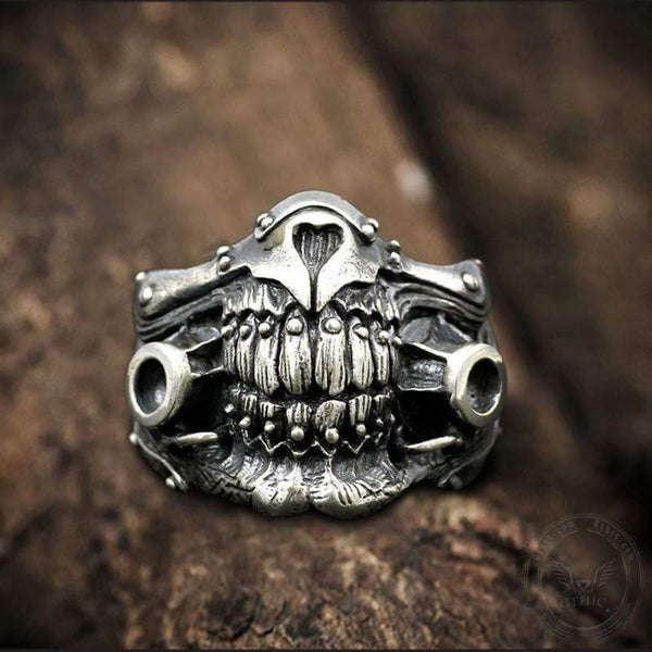 Immortan Joe Face Shield Sterling Silver Ring