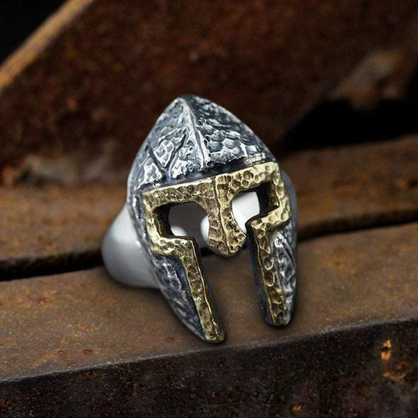 Classic Helmet Sterling Silver Ring