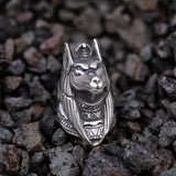 Anubis Stainless Steel Egyptian Mythology Ring | Gthic.com