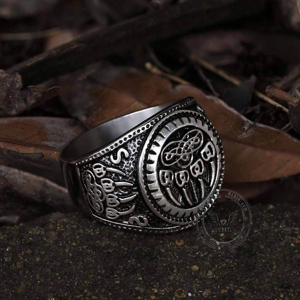 Bear Claw Stainless Steel Viking Ring | Gthic.com