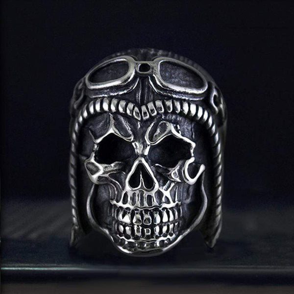 Astronaut 316L Stainless Steel Skull Ring