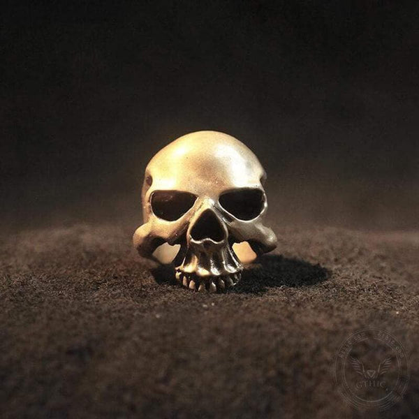 Matte Texture Sterling Silver Skull Ring