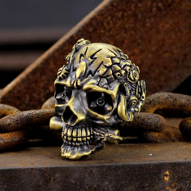The Expendables Brass Skull Ring
