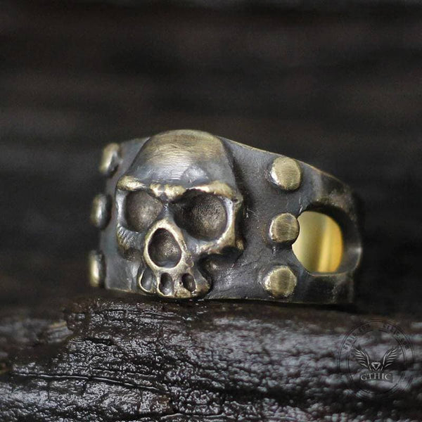Vintage Punk Sterling Silver Skull Ring