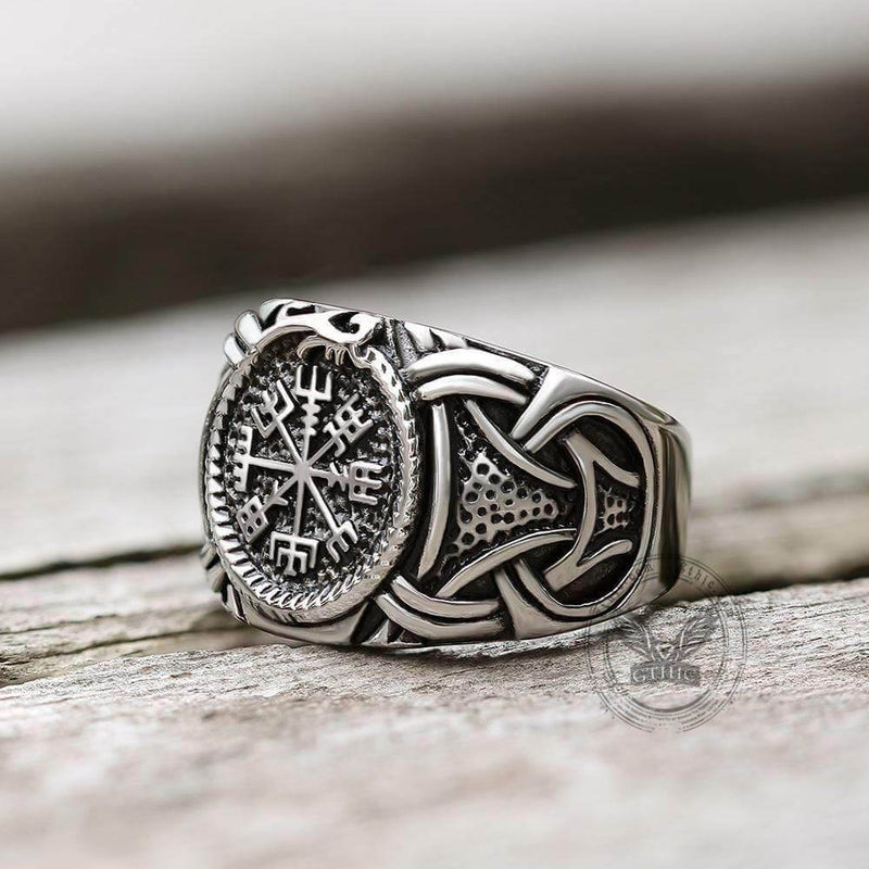 Dragon Amulet 316L Stainless Steel Viking Ring | Gthic.com