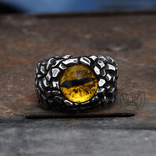 Evil Eye Stainless Steel Ring