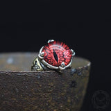 Eye Of Sauron Sterling Silver Ring