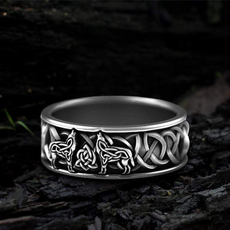 Fenris-wolf Stainless Steel Viking Ring