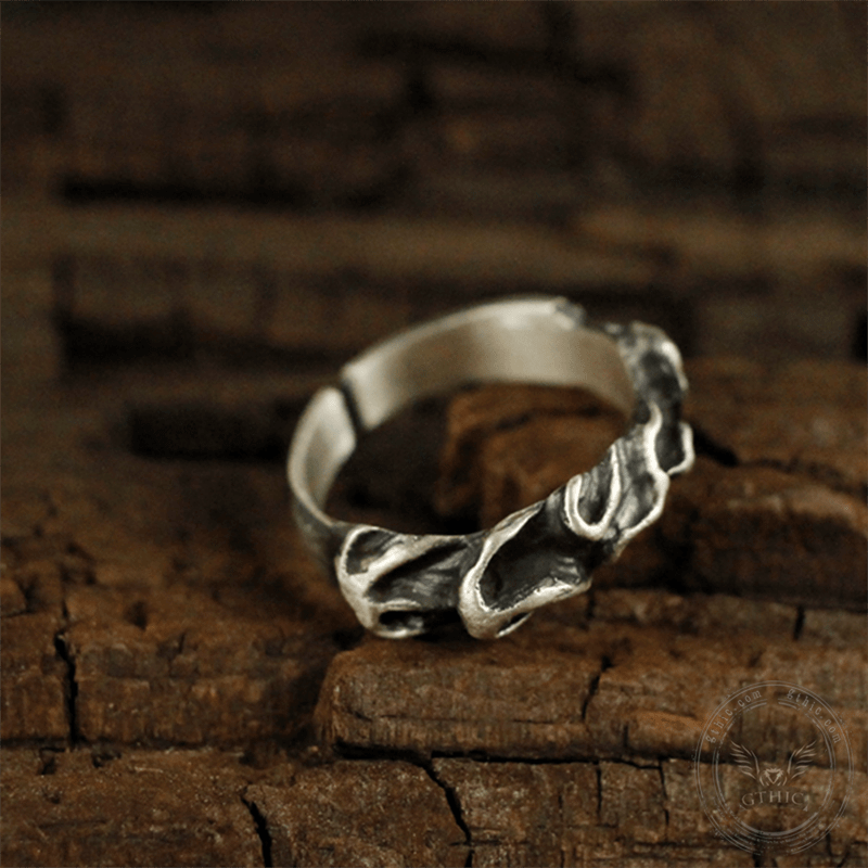Fire of the Chinese Five Elements Sterling Silver Brass Ring