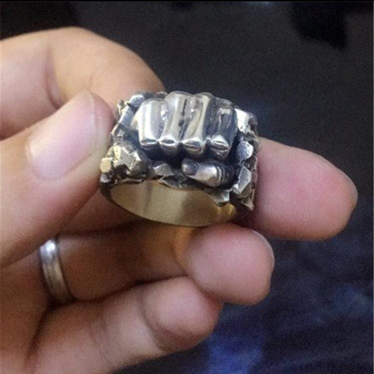 Fist Of Power Brass Ring
