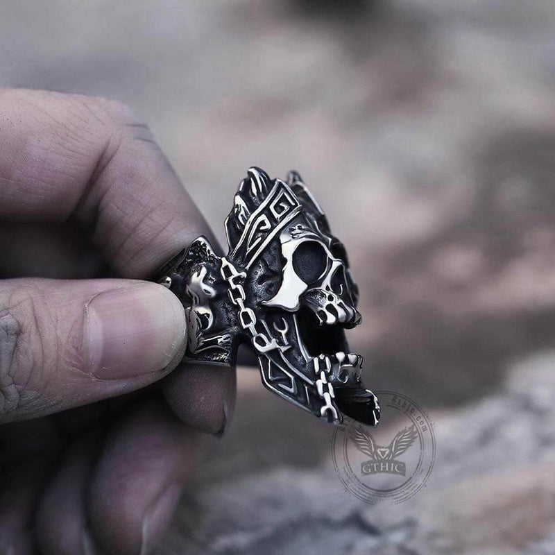 God of War Ares Stainless Steel Skull Ring