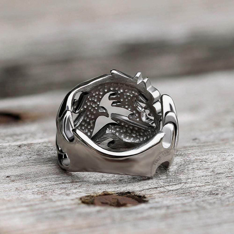 Hollow Dragon Stainless Steel Beast Ring