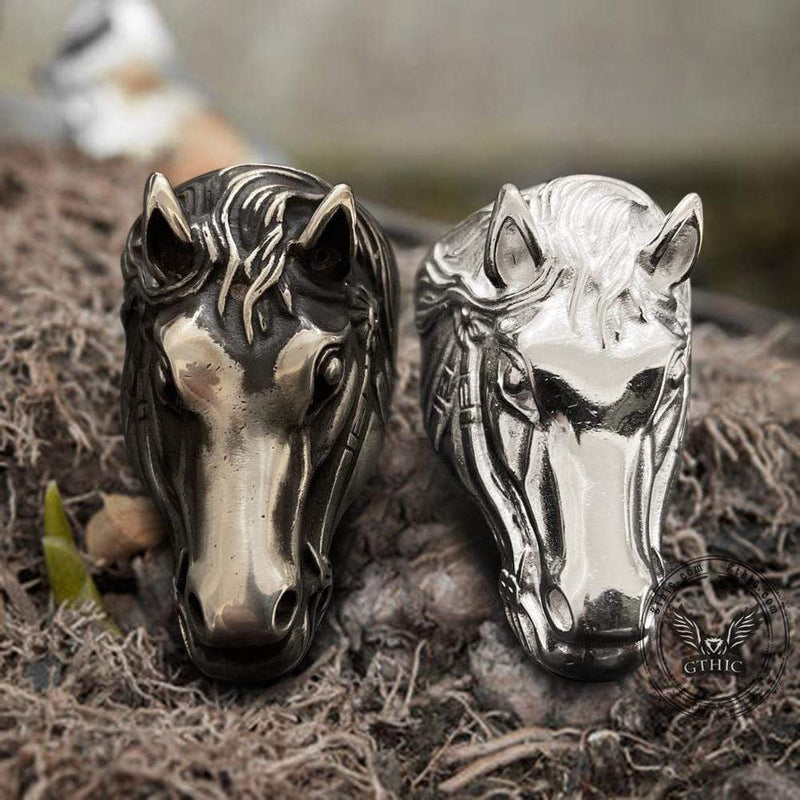 Horse Head Sterling Silver Animial Ring