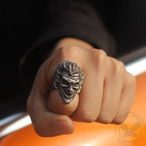 Joker Brass 925 Silver Ring
