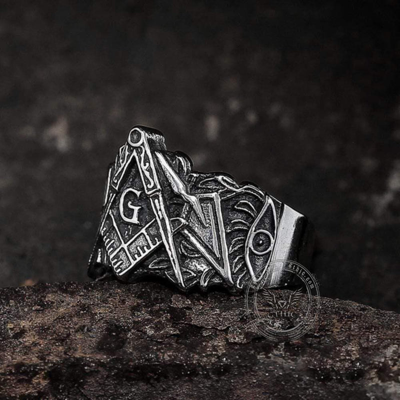 Knights Templar Stainless Steel Masonic Ring