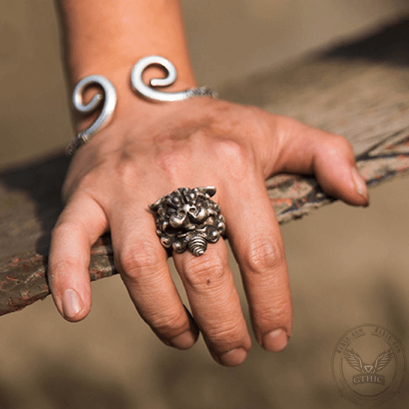 Lion Sterling Silver Beast Ring