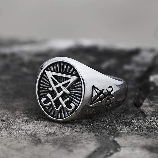 Lucifer Nephilim Seal Stainless Steel Ring
