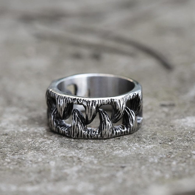 Monster Teeth Stainless Steel Beast Ring