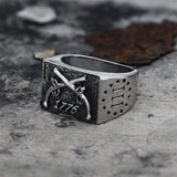 1776 Crossed Guns Stainless Steel Ring