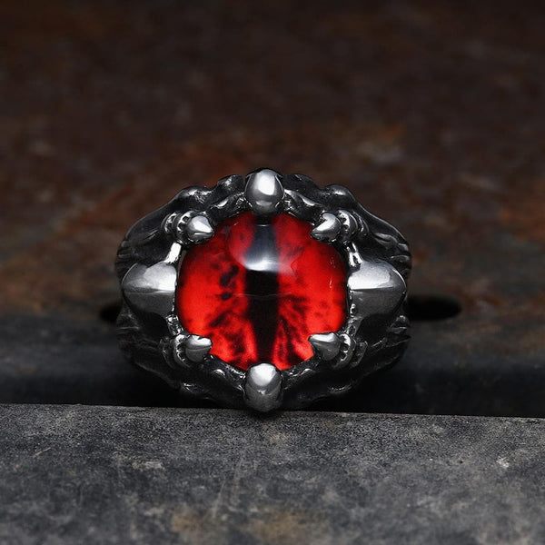 Eye Of Sauron Stainless Steel Ring | Gthic.com