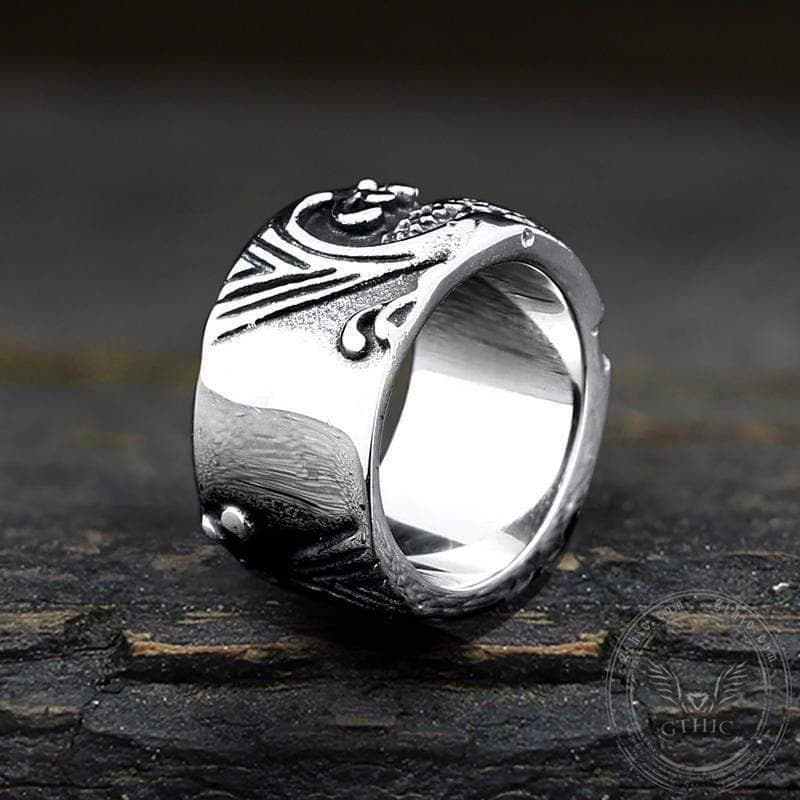 Relief Fish Stainless Steel Ring