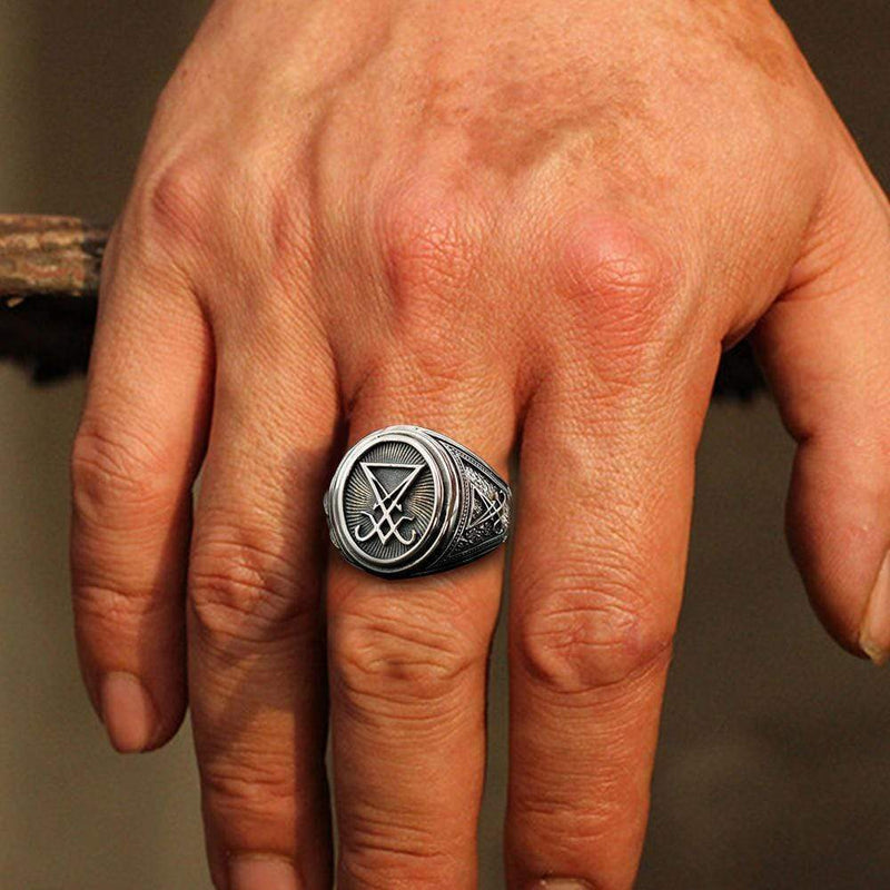 Sigil Of Lucifer Sterling Silver Ring