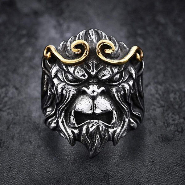 Monkey King Stainless Steel Animal Ring