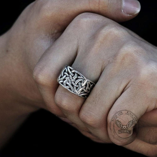 Celtic Knot Stainless Steel Viking Ring