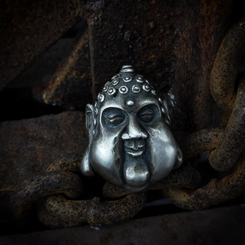 Smiling Buddha 925 Silver Ring
