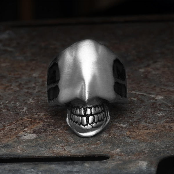 Faceless Man Stainless Steel Skull Ring