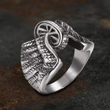 Wheel Wings Stainless Steel Biker Ring