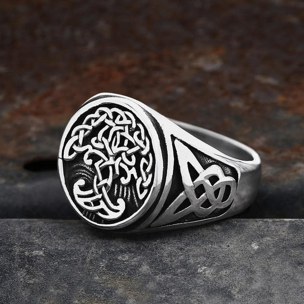 Tree of Life Celtics Stainless Steel Viking Ring